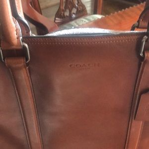 Coach Leather tote. Approx 15 inches by 12 inches.